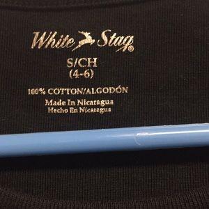 White Stag Tops - Plain Black Scoop neck T